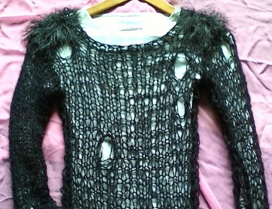Punk Sweater Pattern Camdenlock Mohair Sweater Punk