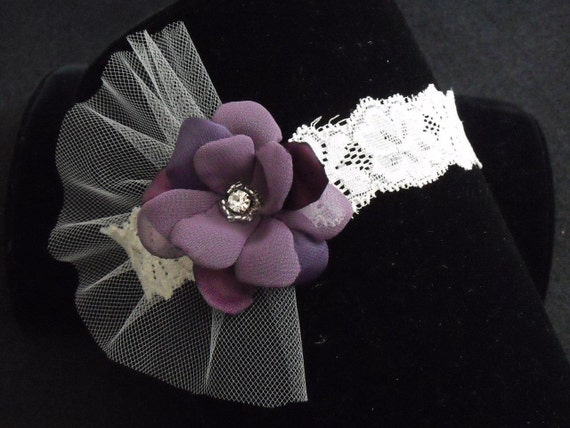 BEST SELLER,Ivory and Purple Garter,Small garter, Purple,Lilac, Blush Pink garter, Beaded, Rhinestone, Lace garter,Style B060b