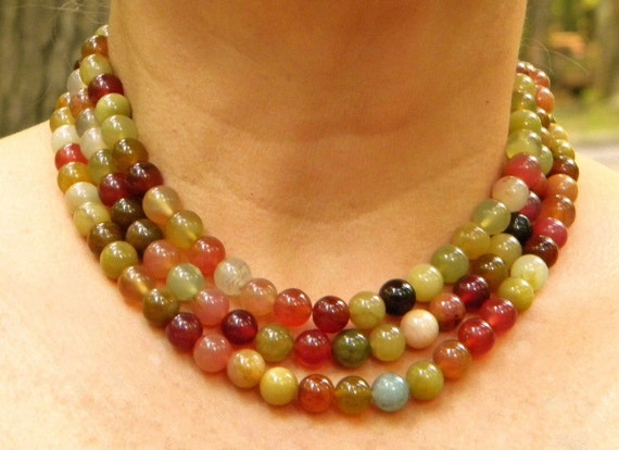 autumnal jade necklace in juicy wine-country colors