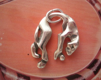 Silver Pendant Panther