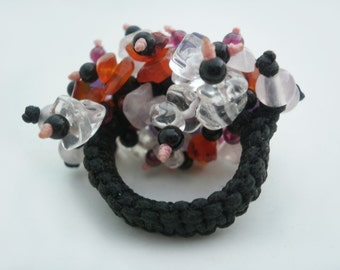 Colorful Stones Ring Adjustable