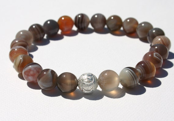 Bountiful Botswana Agate Zen Beaded Bracelet
