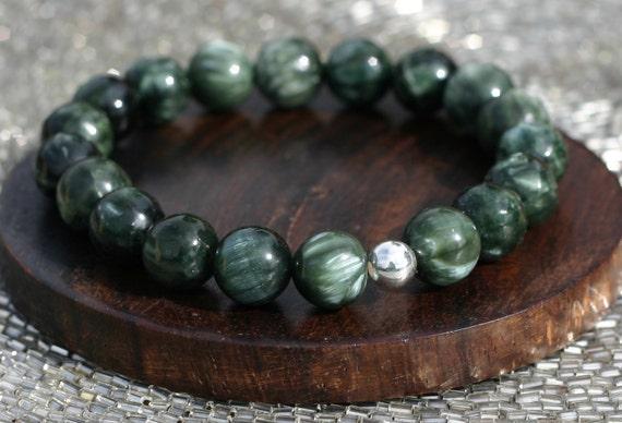 Seraphinite Bracelet for Spiritual Enlightenment