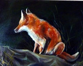 The Fox Original Oil Painting 15x11inch