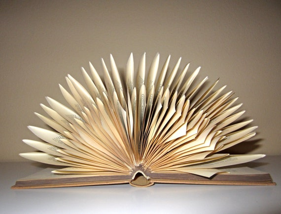 Heinrich Mann - Book Sculpture - altered Book