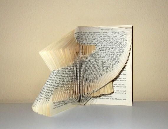 Book Statement - book sculpture - folded book- OoaK