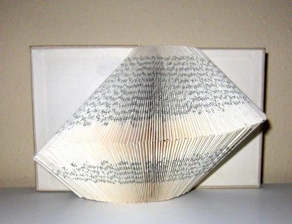 Book Sculpture - altered Book - slight wave