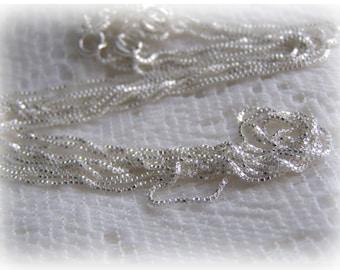 "20"" Sterling Silver Italian Box Chain"