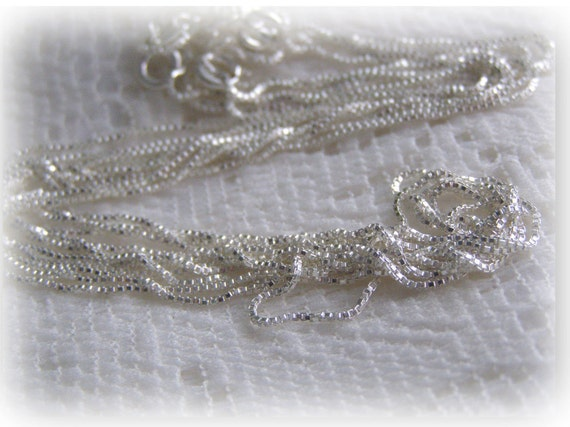 "24"" Sterling Silver Italian Box Chain - 1.2 mm"