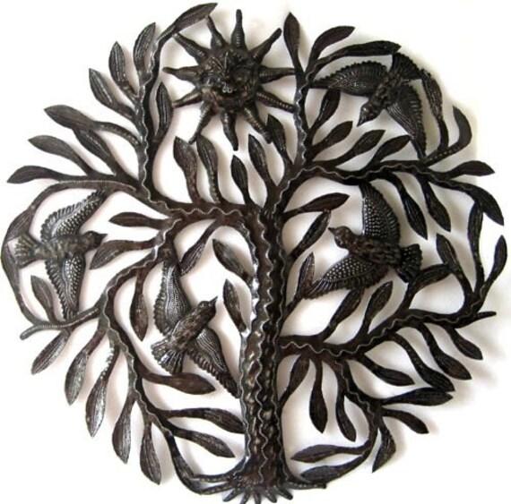Metal Art Birds In Tree Wall Hangingtree Of Life Haitian