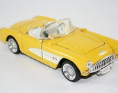 1957 Corvette Convertible Toy Car Yellow