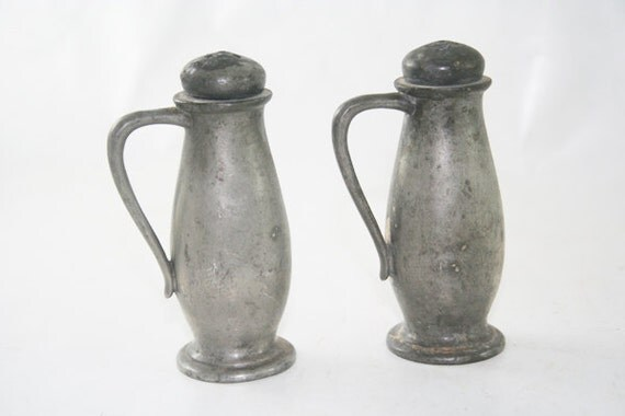 Pewter Salt and Pepper Shakers