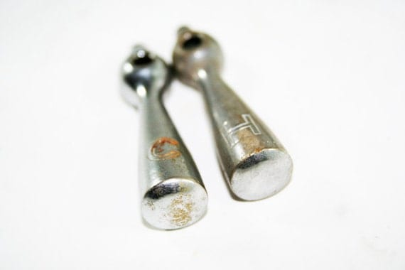 SALE - Chrome Faucet Handles Hot and Cold H and C
