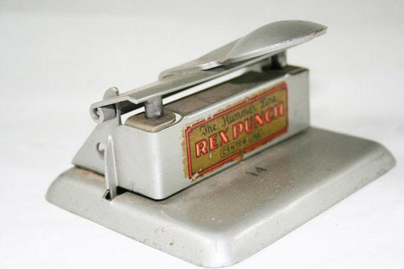 Vintage Hummer Line Rex Hole Punch