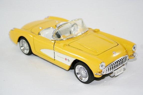 1957 Corvette Convertible Toy Car Yellow