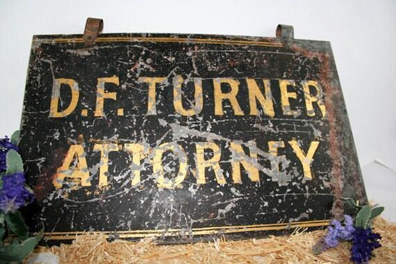 Hanging Metal Sign - Attorney