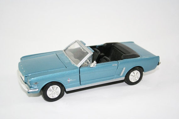 1964 Blue Ford Mustang Convertible Toy Car