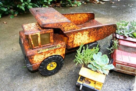 SALE - Tonka Truck for Planter Rusty Trusty Dump Truck
