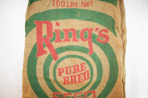 RINGS Top Quality Feed Burlap Bag Gunny Sack Feed bag