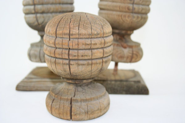 Three large wood finials for Wooden finials for crafts
