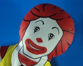 Vintage McDonalds Ronald McDonald Clown Plush Doll. 1980s.