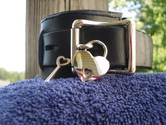 Heart shaped padlock in nickel - Free US Shipping