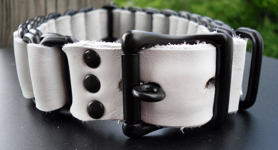 Collar - Black and white chain collar - Free US Shipping