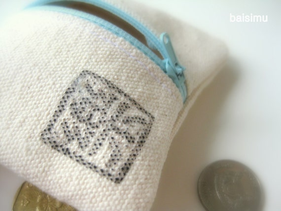 Canvas coin purse - Happiness