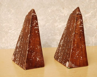 Jaru Ceramic Volcano Rock Bookends