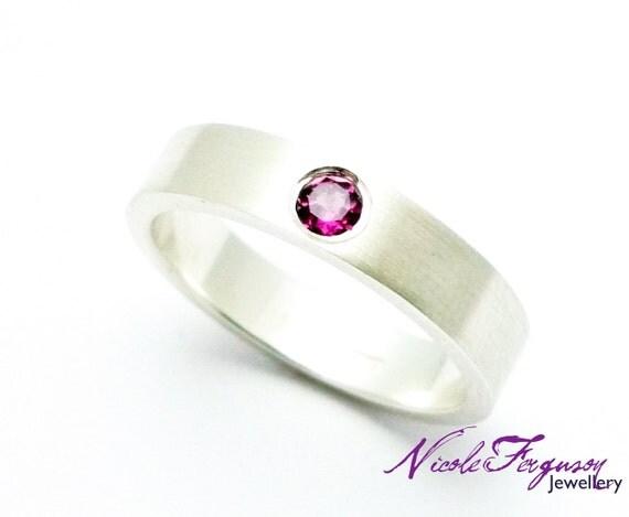 Pink Gemstone Ring handmade in Sterling Silver