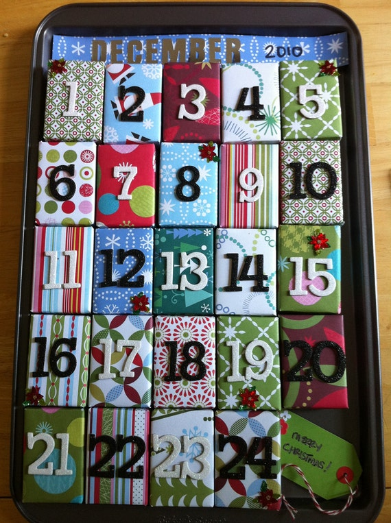 Advent calendar christmas countdown gift boxes and decoration for Advent calendar decoration