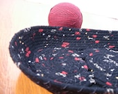 BLACK BEAUTY: Oblong Fabric Coiled Tray