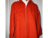 Reserved for Karen Vintage Warm Red Flannel Shirt Jacket Eddie Bauer Size Large