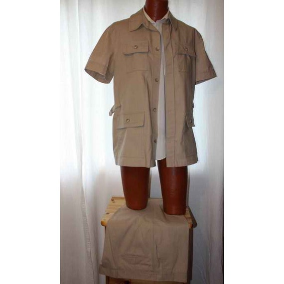 Mens Vintage Summer Leisure Suit Safari Style Croyden Size 44