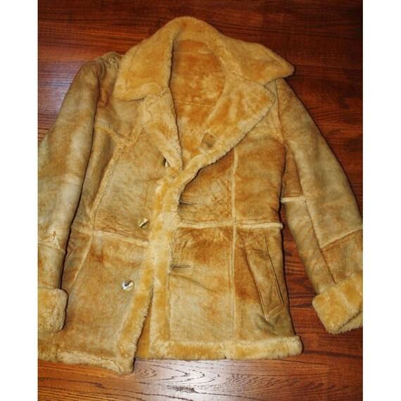 Shearling Lambskin Sheared Lamb Fur Coat Cutter Craft or Repair Mens 40