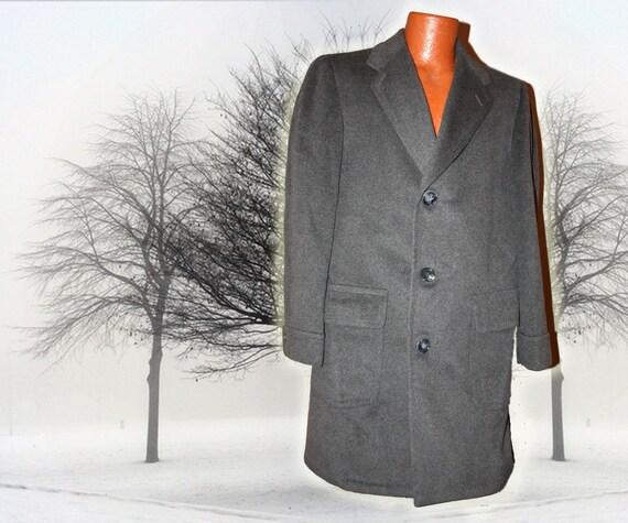 Vintage Gray Cashmere Blend Over Coat Dress Coat S-M
