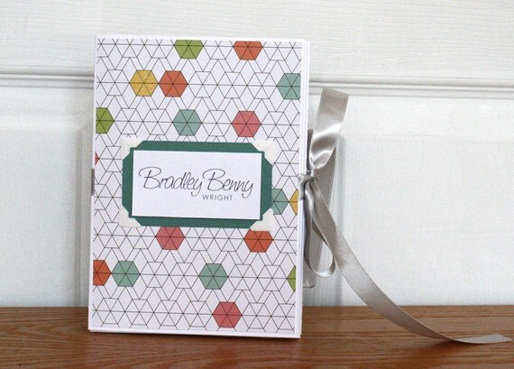 Baby Memory Book, Gender Neutral, Colorful Geometric