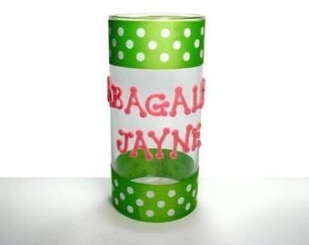 Custom Glass Vase or Candle Holder