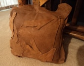 Handmade Thick Brown Leather Decorative Accent Pillows 15 Inches by 15 Inches