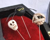 Coffin Pincushion and Decorative Pin Set, MHA
