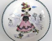 Vintage 60s Mid Century Modernist Austrian Enamel Novelty Dish Bowl
