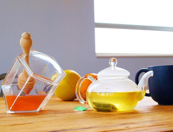 Hive Honey Set - Clear Glass