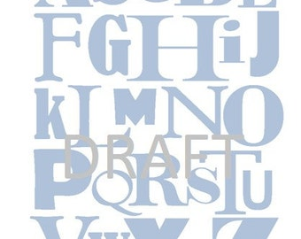 Alphabet print - ABC - BLUE 8x10