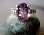Antique .925 Silver African Amethyst Ring
