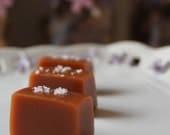 Fleur de Sel Caramels - 1/2 lb in a Mason Jar
