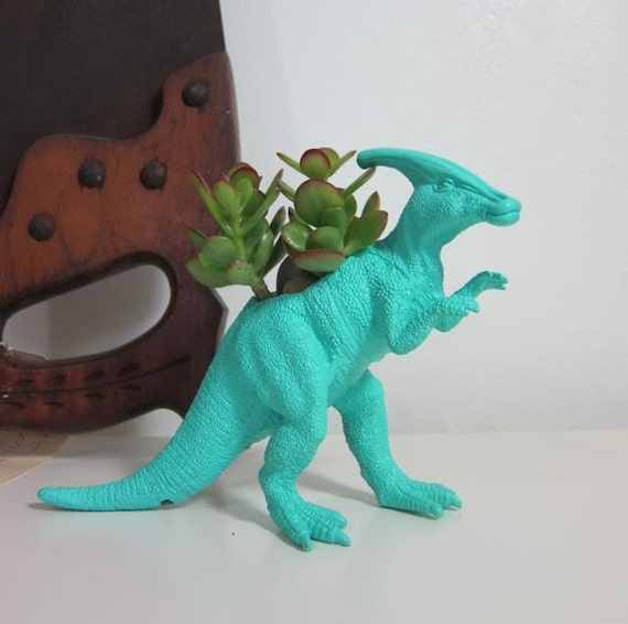 Warren the Parasaurolophus Planter & Succulent