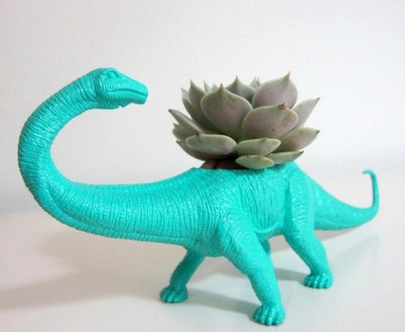 Aimee the Apatosaurus Planter & Succulent