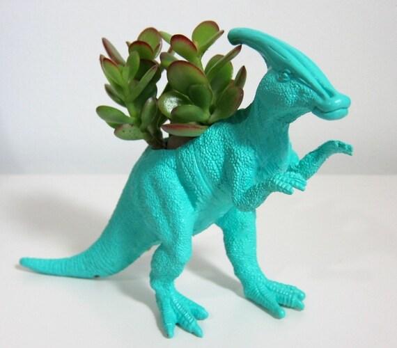 Warren the Parasaurolophus Planter & Succulent