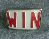 Win License Plate Belt Buckle