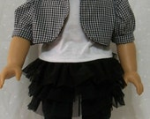 18 Inch Doll Clothes American Girl  Mesh Skirt with Jacket